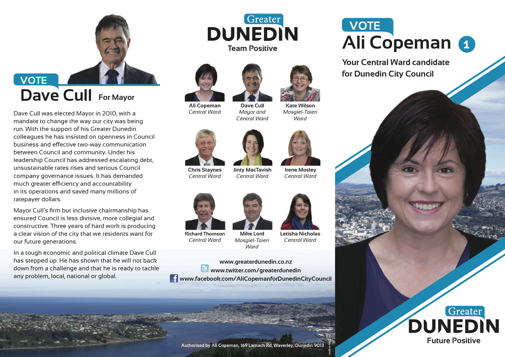 Ali Copeman - Greater Dunedin - 2013 Local Election