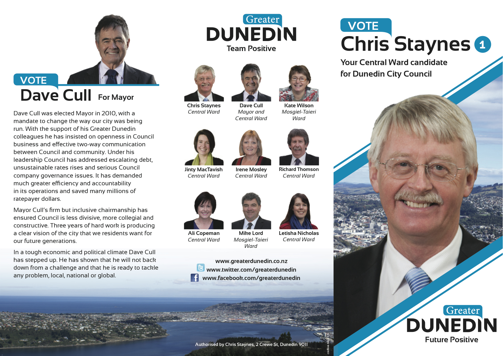 Chris Staynes - Greater Dunedin - 2013 Local Election