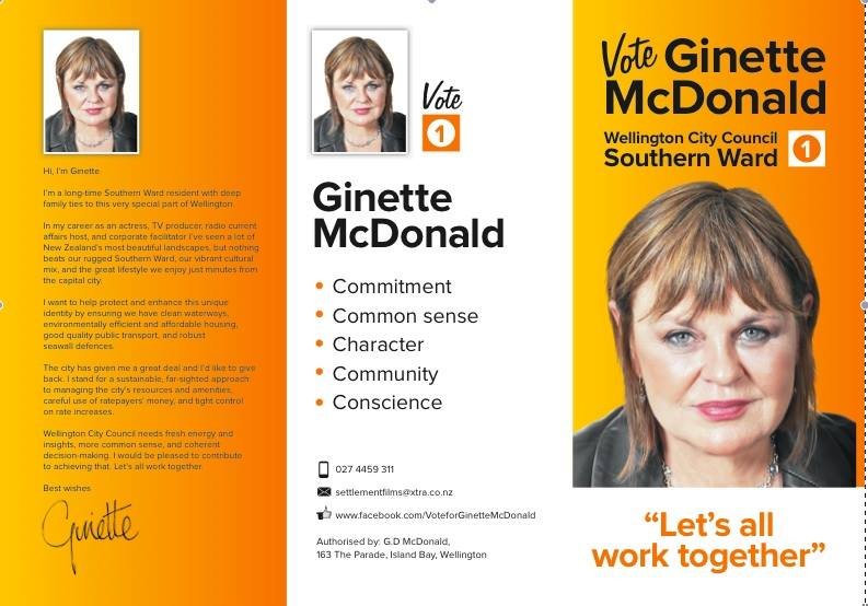 Ginette McDonald - 2013 Local Election