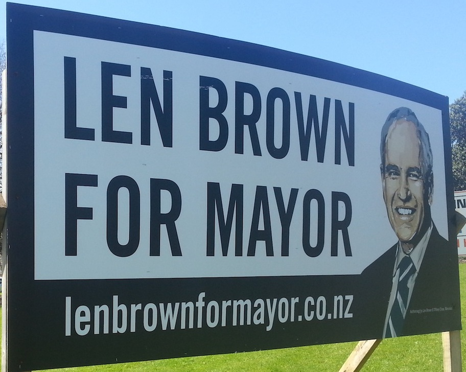 Len Brown - Independent - 2013 Local Election