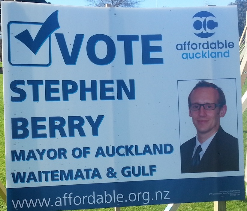 Stephen Berry - Affordable Auckland - 2013 Local Election