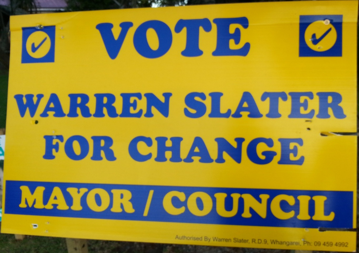Warren Slater - 2013 Local Election