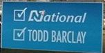 Todd Barclay - National Party - 2014 General Election