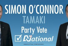 Simon O'Connor - National Party - 2014 General Election