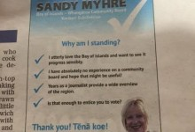 Sandy Myhre - 2016 Local Elections