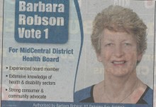 Barbara Robson - 2016 Local Elections
