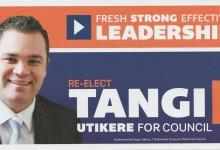 Tangi Utikere - 2016 Local Elections