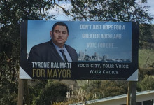Tyrone Raumati - 2016 Local Elections
