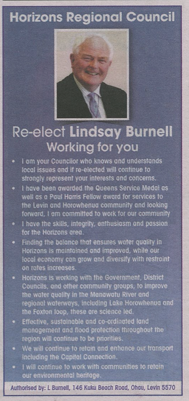 Lindsay Burnell - 2016 Local Elections