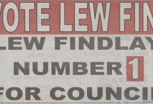 Lew Findlay - 2016 Local Elections