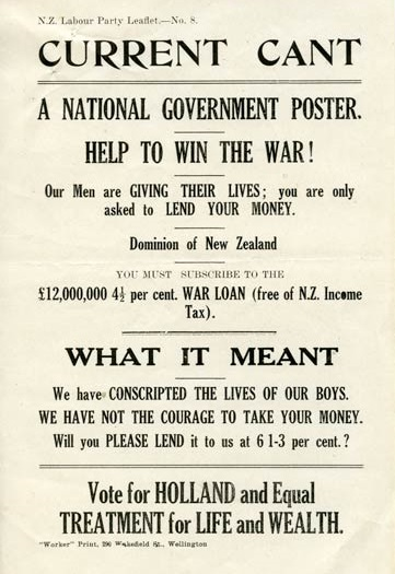 Harry Holland - Wellington North by-election - 1918