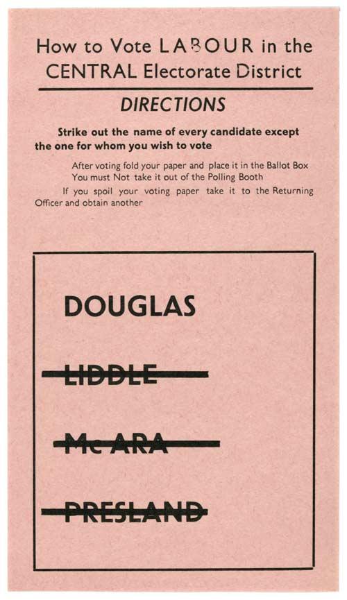 Norman Douglas - Labour - Auckland Central - 1960